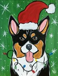 Paint Your Pet, Holiday Edition Painting!