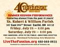 Tetelestai 40th Anniversary Summer Shows