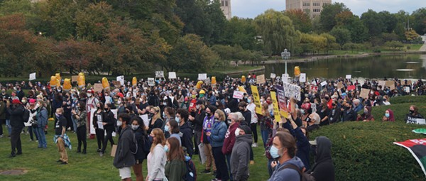 In Cleveland, Antidote to Worst President and Worst Presidential Debate in History Was Pre-Event Protest