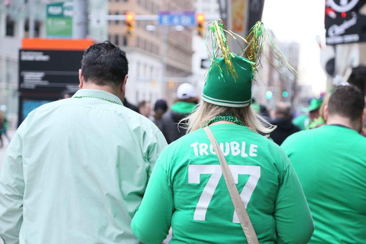 The St. Patrick's Day parade brings thousands downtown. See: Saturday