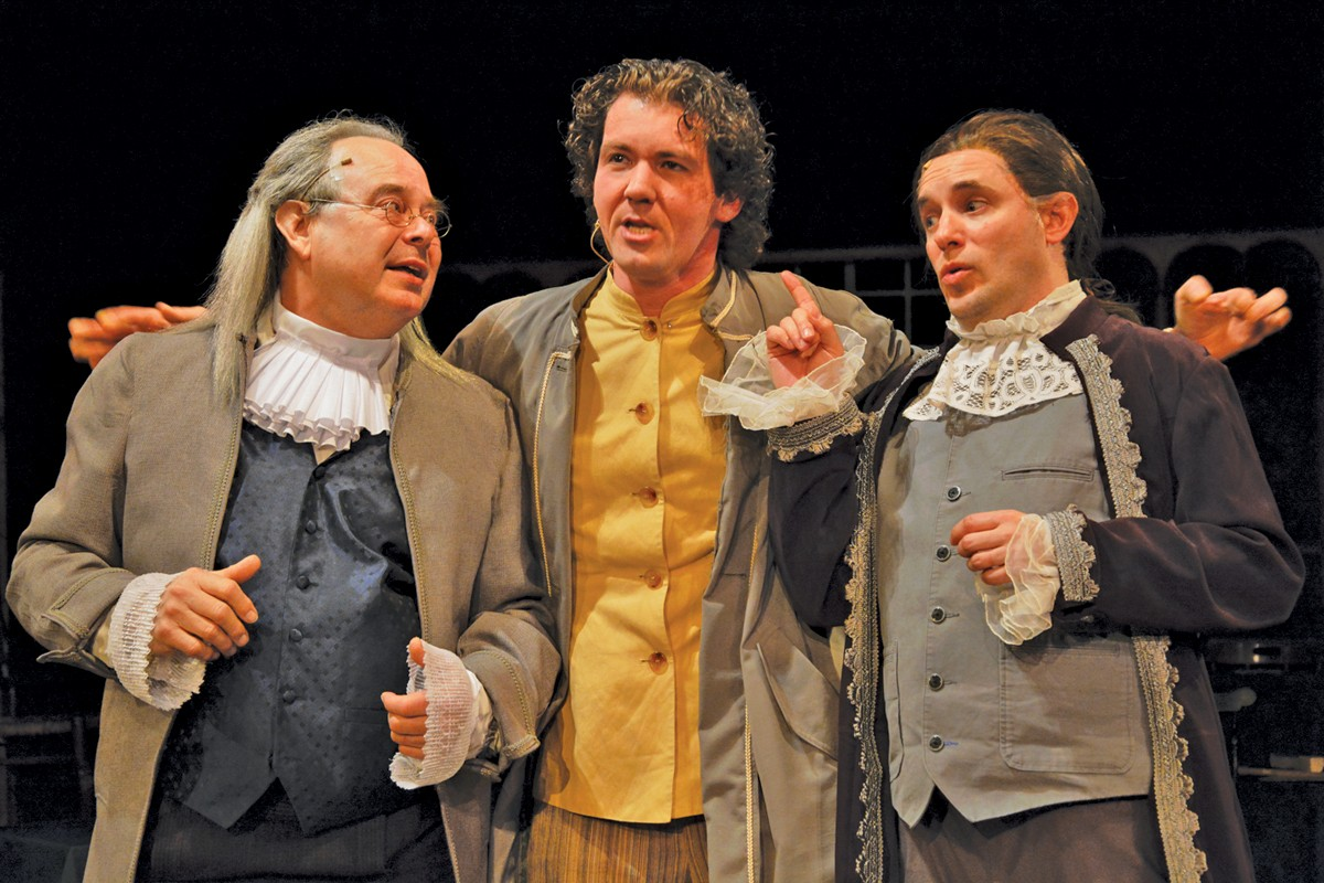 OSF actors Terry Burgler, Jeremy Jenkins, and Andrew Cruse