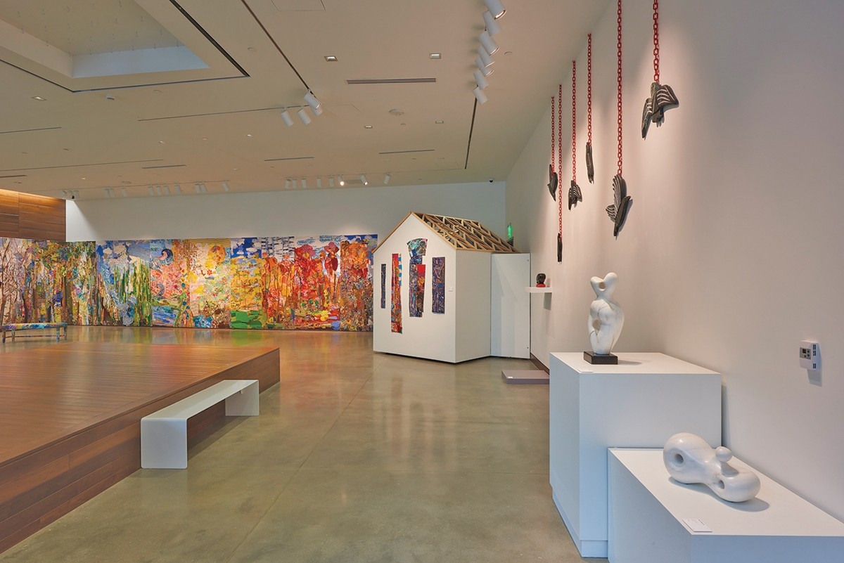 The two-person show now at Gallery W  features works by Libby Chaney and  Alice Kiderman.