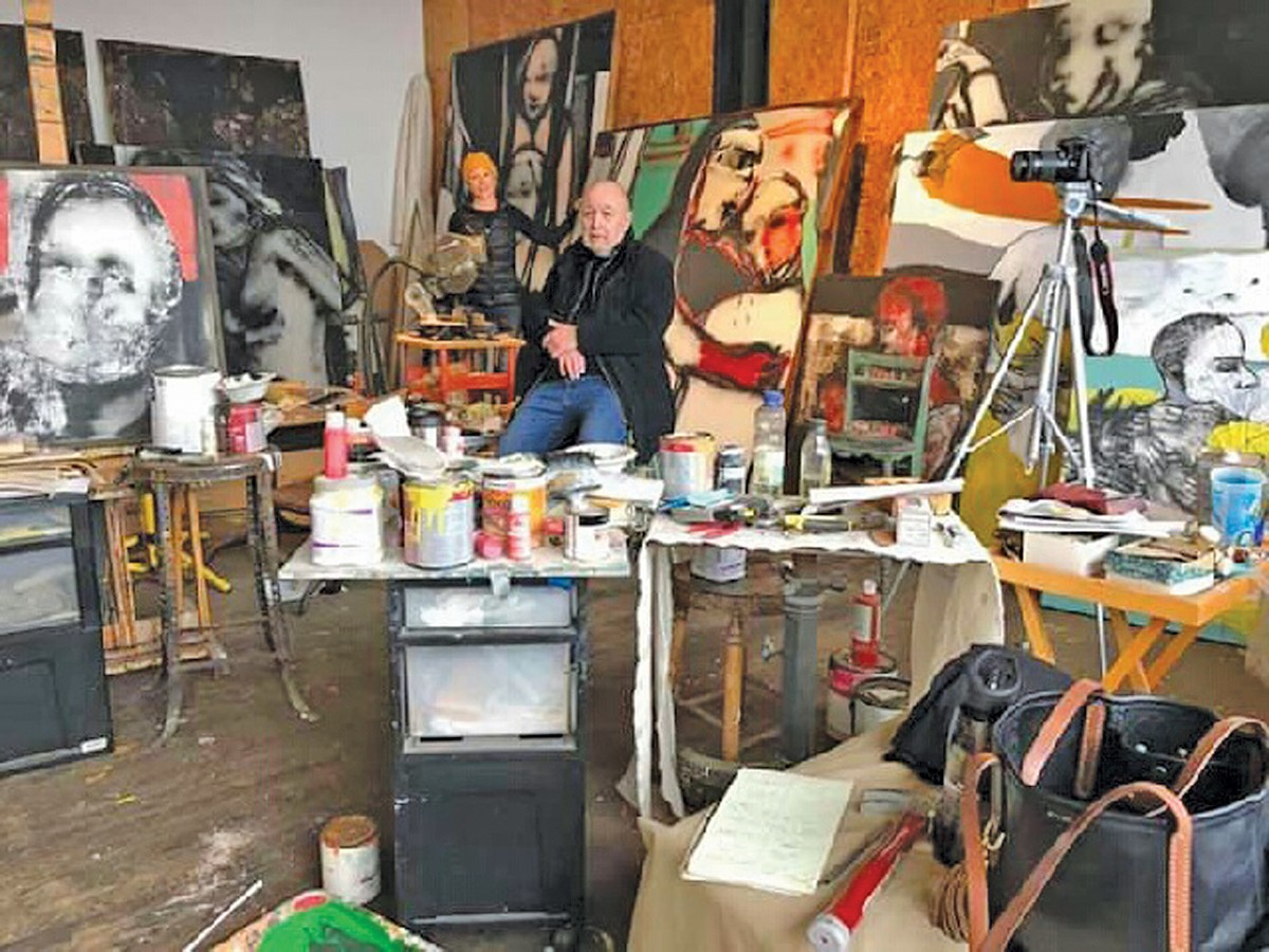 Douglas Max Utter in his studio.