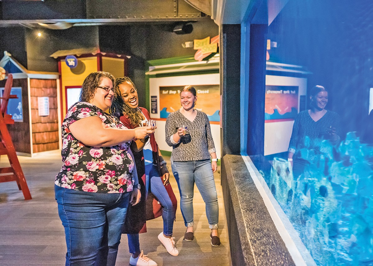 Adult Swim: Fall Wine Tasting takes place at the Greater Cleveland Aquarium. See: Friday.