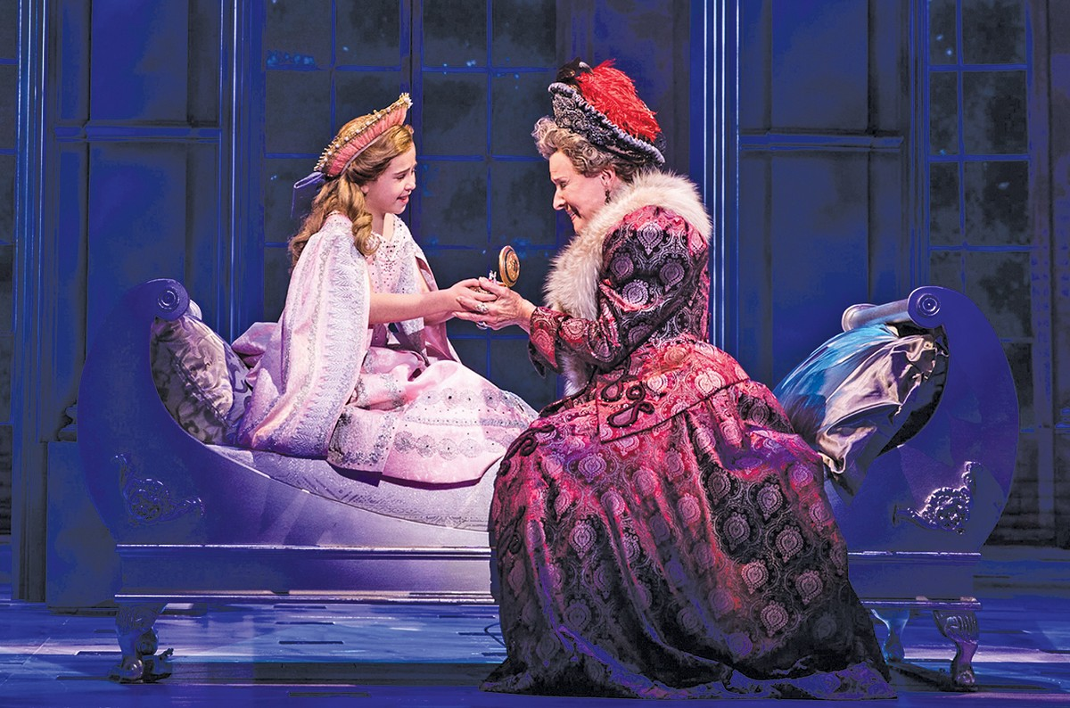 "Lila Coogan, left, is a constant bright spot in ""Anastasia,"" now at Connor Palace."