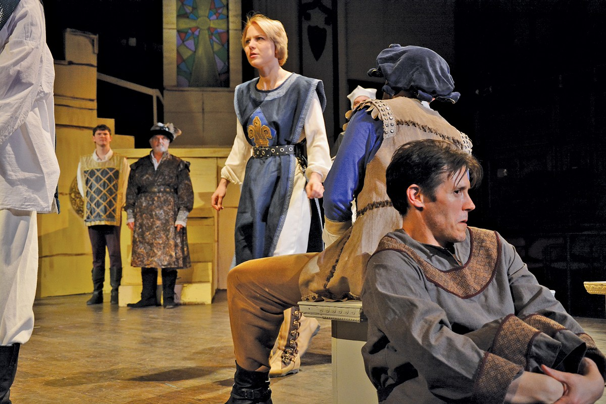 Tess Burgler, as Joan of Arc, crafts a fine performance.