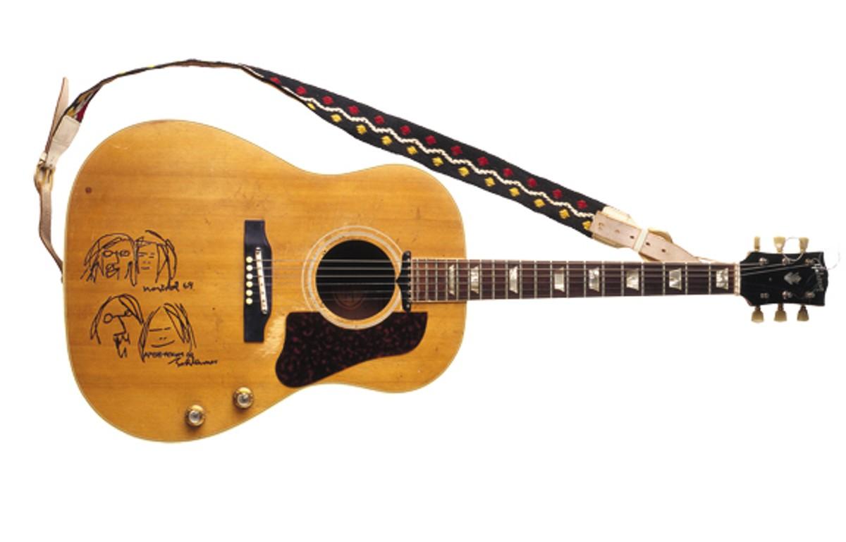John Lennon's Gibson Acoustic Guitar.