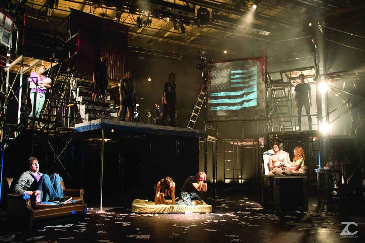 American Idiot arrived with its impressive projection design last year at the Beck Center for the Arts.