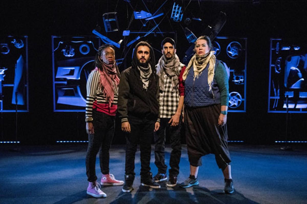 (From left) Andrea Belser, Salar Ardebili, Abdelghani Kitab, Rocky Encalada