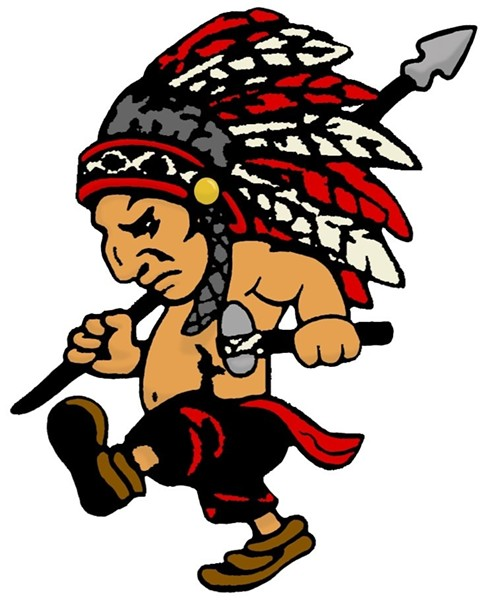 "Mascot for the Mohawk High School ""Warriors,"" in Wyandot County."