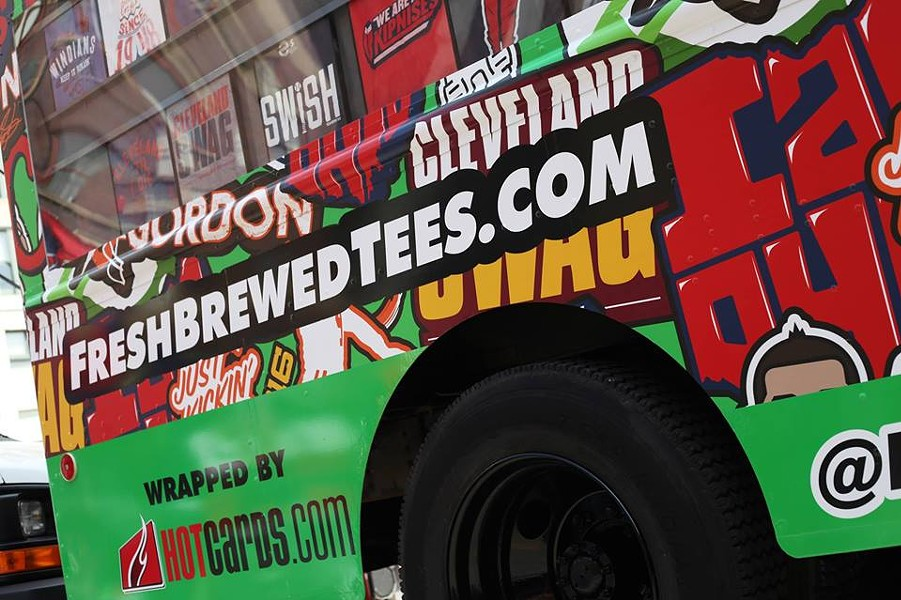 Fresh Brewed Tees' apparel truck - SCENE ARCHIVES