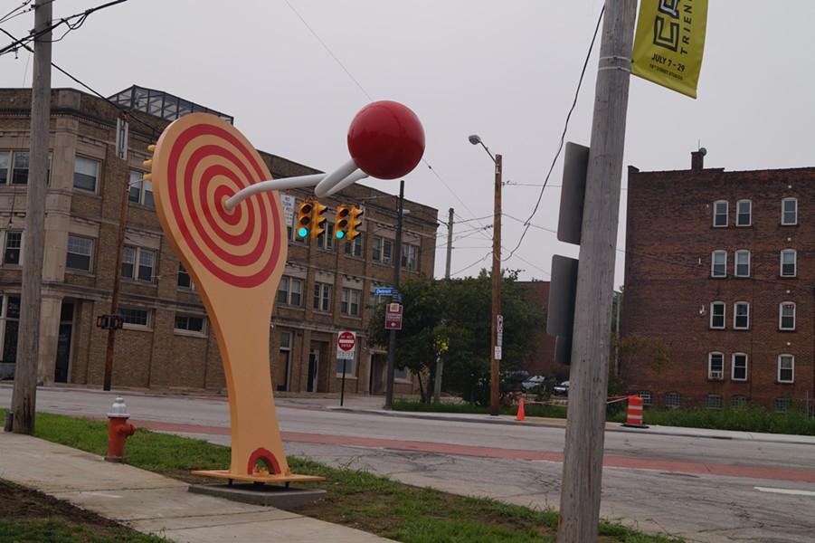Detroit Shoreway's giant paddle ball, (9/13/18). - SAM ALLARD / SCENE