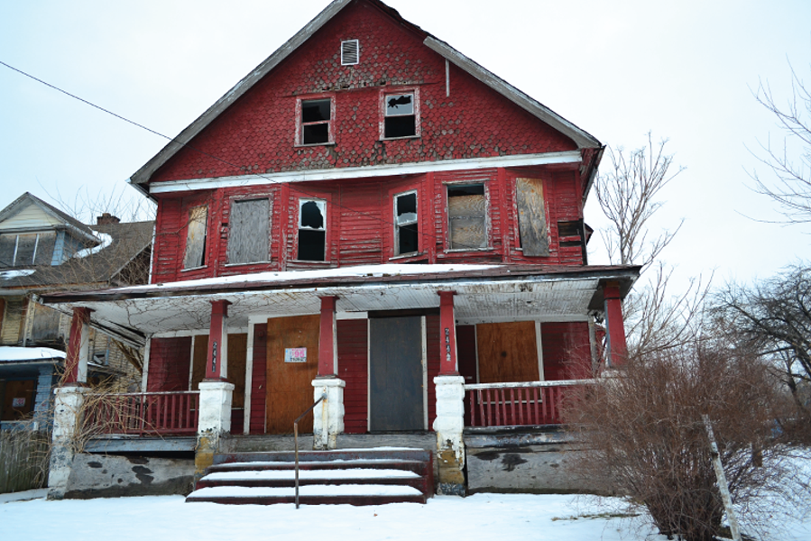 A house in Cleveland's Kinsman neighborhood, (2014). - SAM ALLARD / SCENE