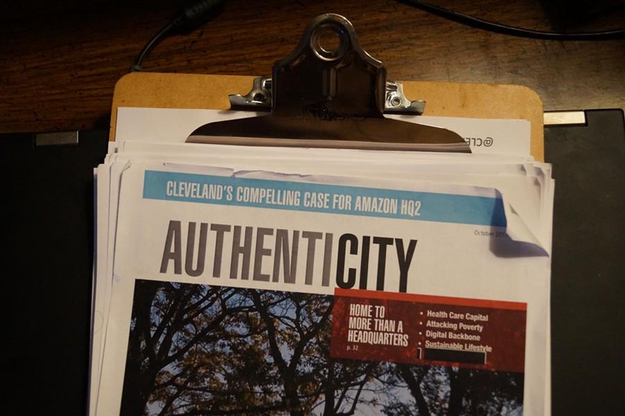 The first page of Cleveland's Amazon bid. - SAM ALLARD / SCENE