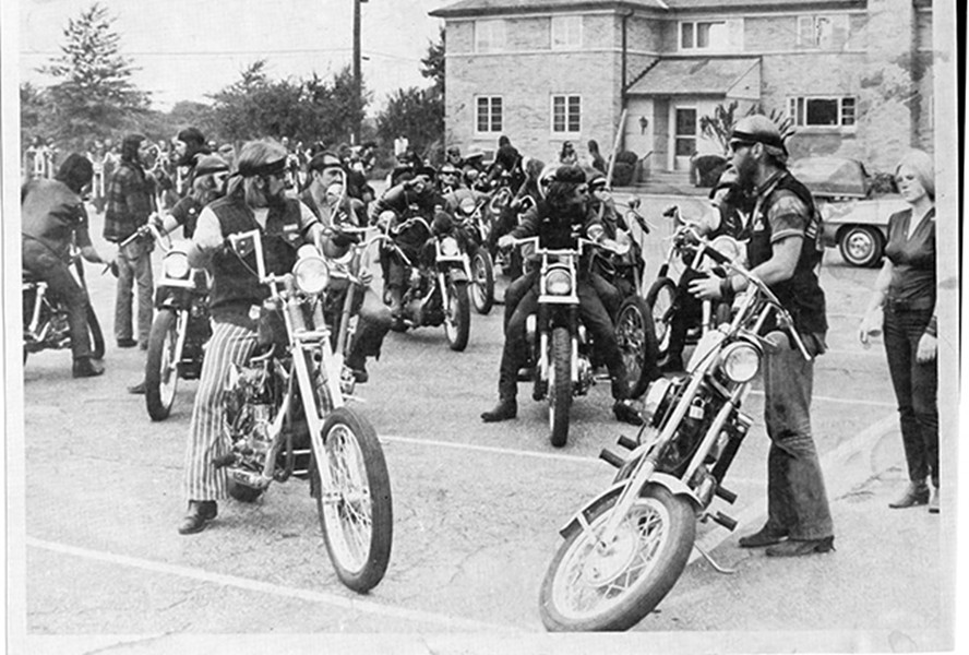 A GROUP OF HELLS ANGELS, PHOTO COURTESY CROUCH FAMILY