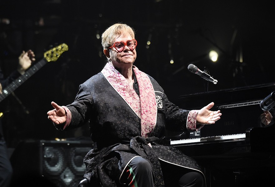 Elton John's PR team didn't permit us to photograph last night's show but provided photos of John performing at PPL Center in Allentown last year. - PHOTO BY KEVIN MAZUR/GETTY IMAGES FOR ROCKET ENTERTAINMENT
