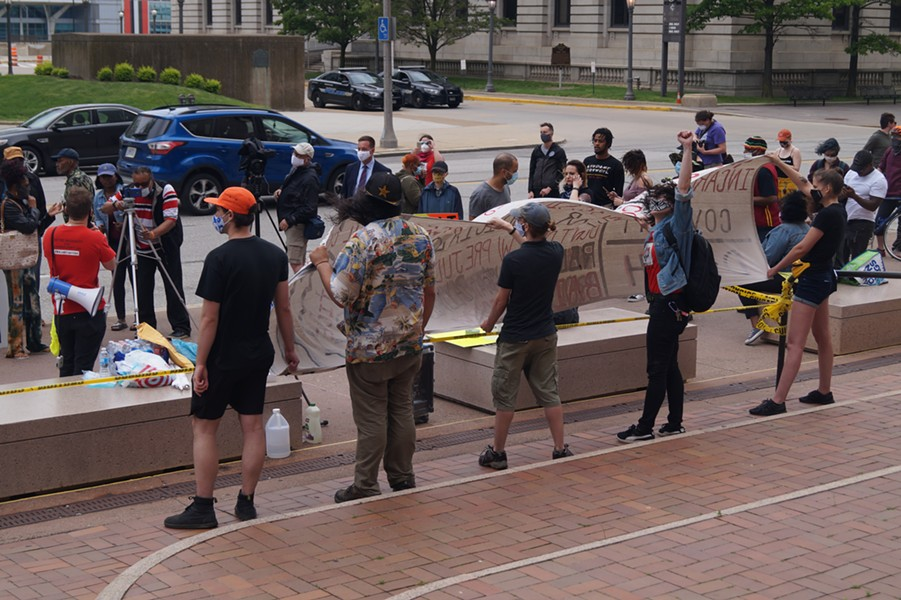 Rally for Justice for Incarcerated Individuals, Cuyahoga County Justice Center, (5/29/20). - SAM ALLARD / SCENE