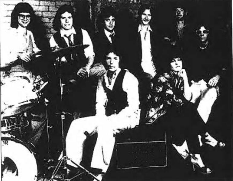 The Euclid Beach Band is: (clockwise beginning upper left) Don Krueger, Rich Reising, Pete Hewlett, Buddy Hall, John Hart, Dale Baker, Susan Lynch and Rick Bell. - PHOTO BY REBECCA HURYN