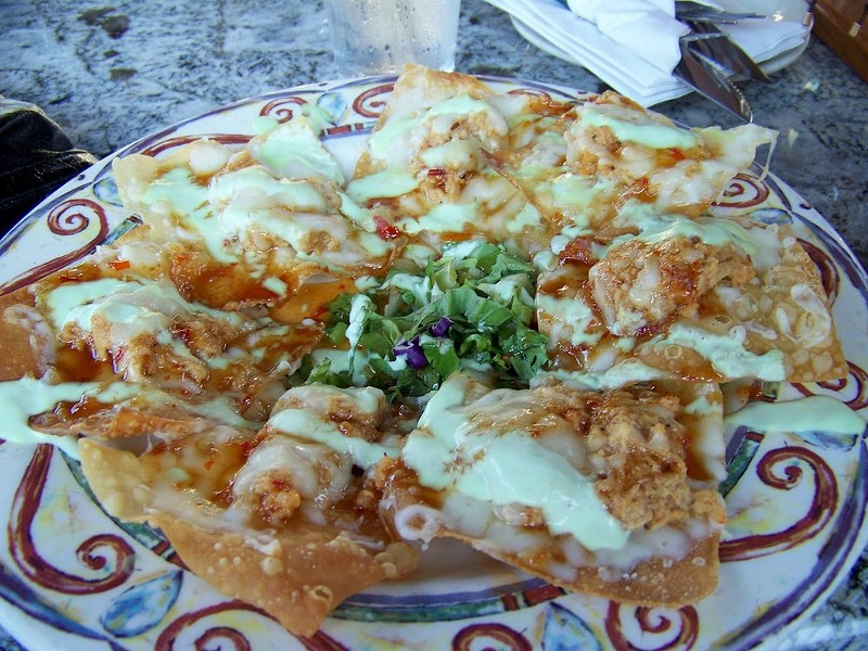 ASIAN NACHOS FROM ROCKY RIVER BREWING COMPANY (PHOTO VIA YELP, SHEENA W)