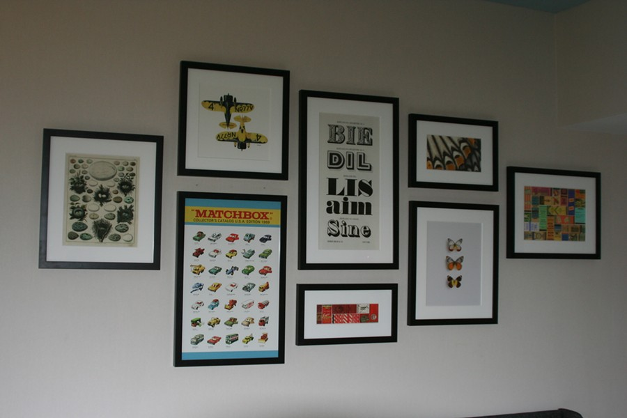 Matchbook prints in a Schofield Room under construction. - JEFF NIESEL / SCENE