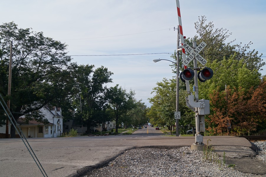The train tracks at Kansas Avenue. - SAM ALLARD / SCENE