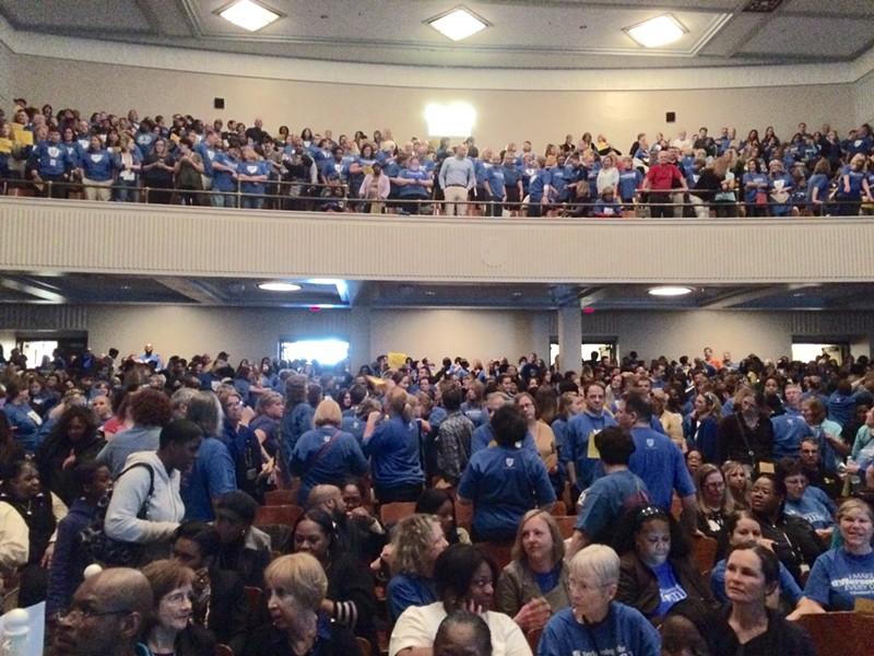 Cleveland teachers, getting rowdy in 2015. - ERIC SANDY / SCENE