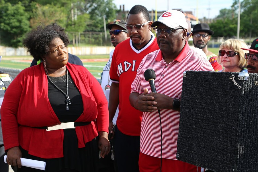 Coach Ted Ginn Sr. speaks about the importance of engaging the city's youth. - EMANUEL WALLACE / SCENE