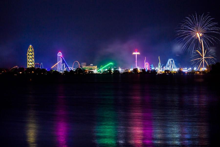 Cedar Point all lit up for the Fourth. - COURTESY OF CEDAR POINT