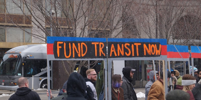 """Rally to Save Transit,"" Public Square, 3/12/2018"