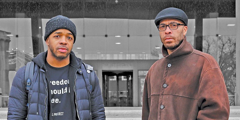 Anthony Body (left) filed a lawsuit against the city of Cleveland this week
