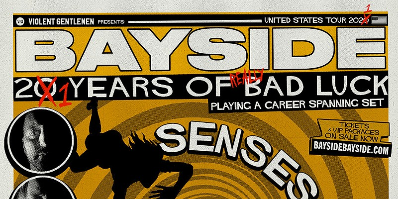 Poster for Bayside's upcoming tour.