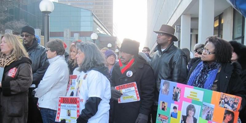 Justice for Aliza Sherman rally in 2014