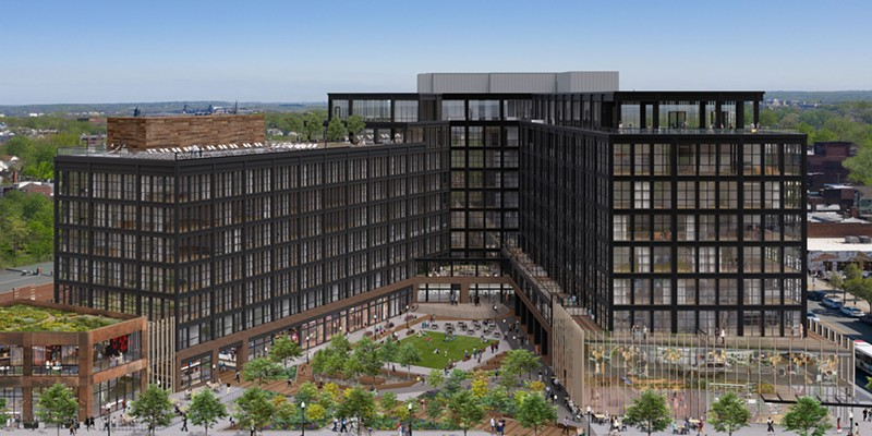 An artist's rendering of completed INTRO development in Ohio City.