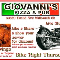 Bike Night with Live Music at Giovanni's Willowick