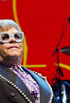 Elton John performing at the Q.