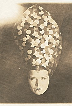 """""""Untitled (Courtney with Headdress)"""" is on view at the Buckland Museum."""
