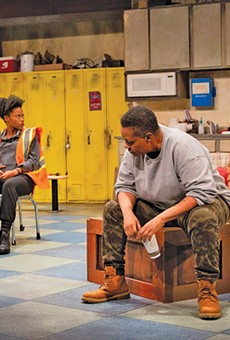 Mary-Francis Miller, left, Ananias J. Dixon and Robert Hunter star in Skeleton Crew.