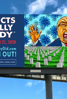 Artist-Made Anti-Trump Billboards Pop-Up Across Ohio Urging Voters to #VoteThemOut