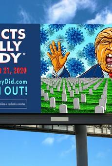 Artist-Made Anti-Trump Billboards Pop-Up Across Ohio Urging Voters to #VoteThemOut