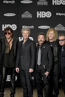 Bon Jovi at the 2018 Rock Hall Inductions.