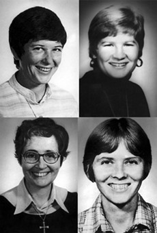 Clockwise from top lef:  Ita Ford, Jean Donovan, Maura Clarke, Dorothy Kazel