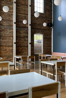 The dining room of Heart of Gold, opening soon in Ohio City.