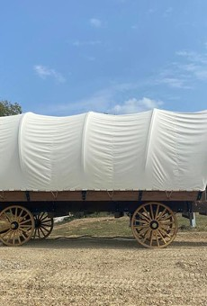 Want to sleep in this wagon?