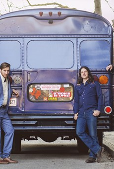 Cory Grinder and the Playboy Scouts and their big blue bus.