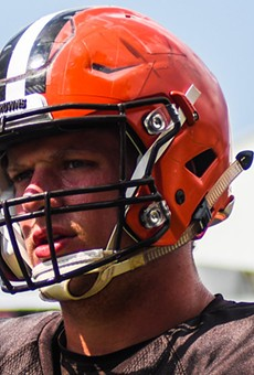 Carl Nassib during his time with the Browns
