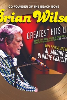 Poster art for Brian Wilson's new tour.