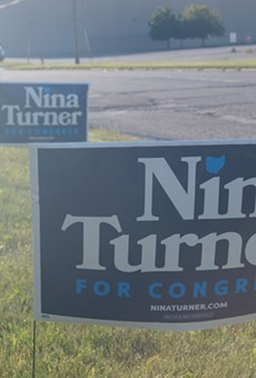 Nina Turner signs in Maple Heights, (8/3/21).