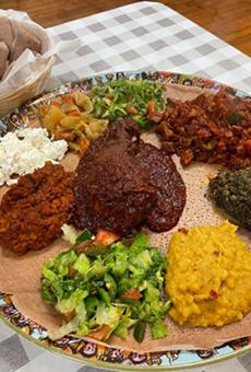 Sampler platter from Habesha