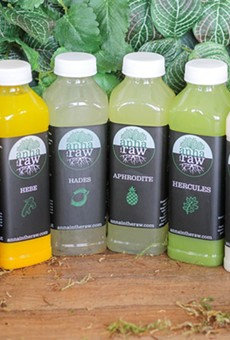 Cold-pressed juices from Anna in the Raw