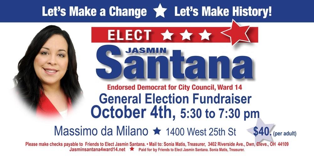 Jasmin Santana Campaign Flyer - FACEBOOK: JASMIN SANTANA FOR WARD 14